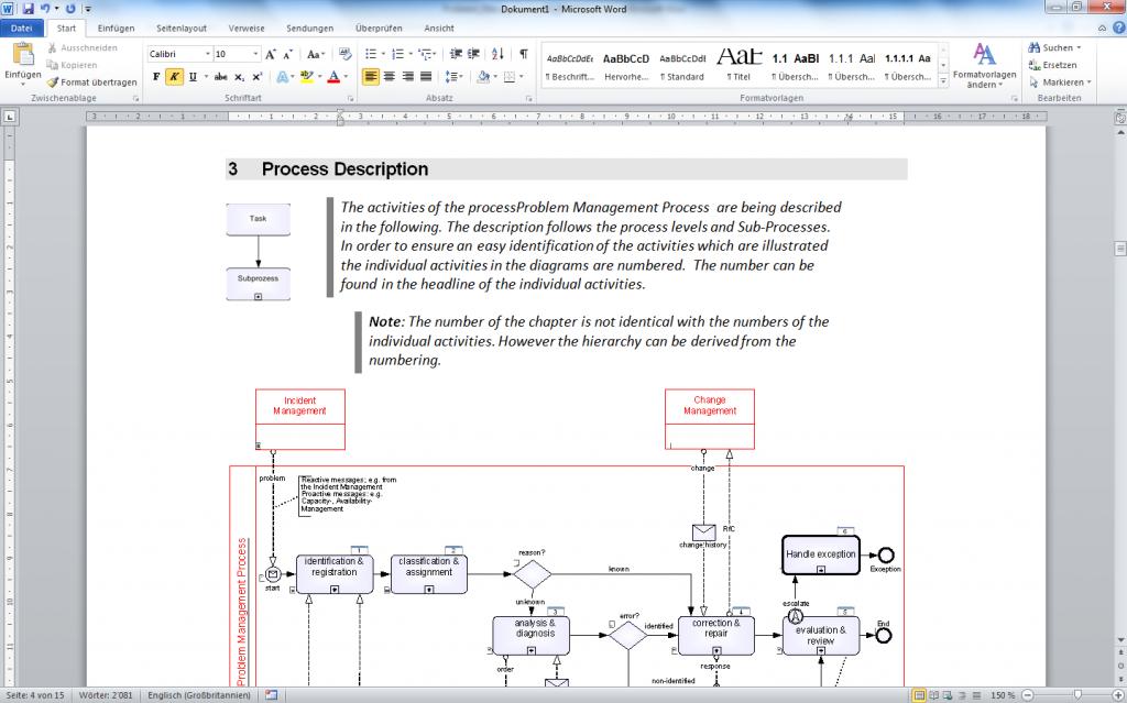 BPMN Process Documentation Vizi BPM BPM Modeling BPM Manager - It process documentation
