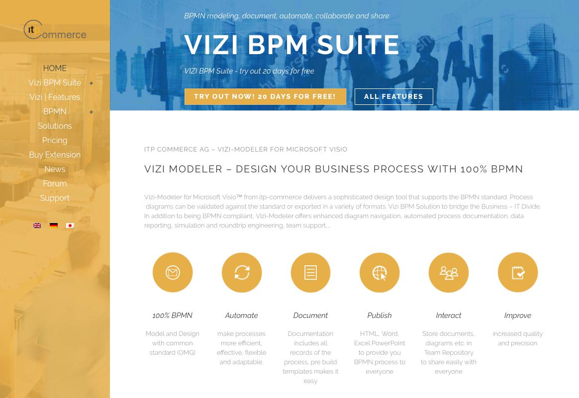 new website vizi bpm solution bpm software - Bpmn 20 Modeler For Visio