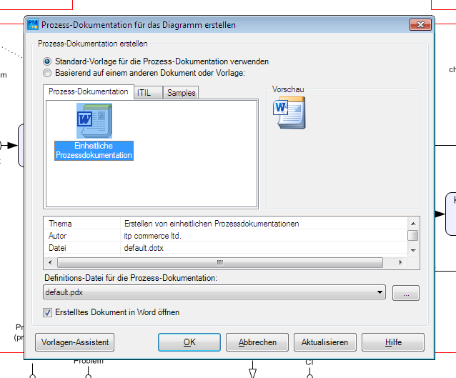 Vorlagen - Vizi BPM   BPM Modeling   BPM Manager   BPM Sharepoint
