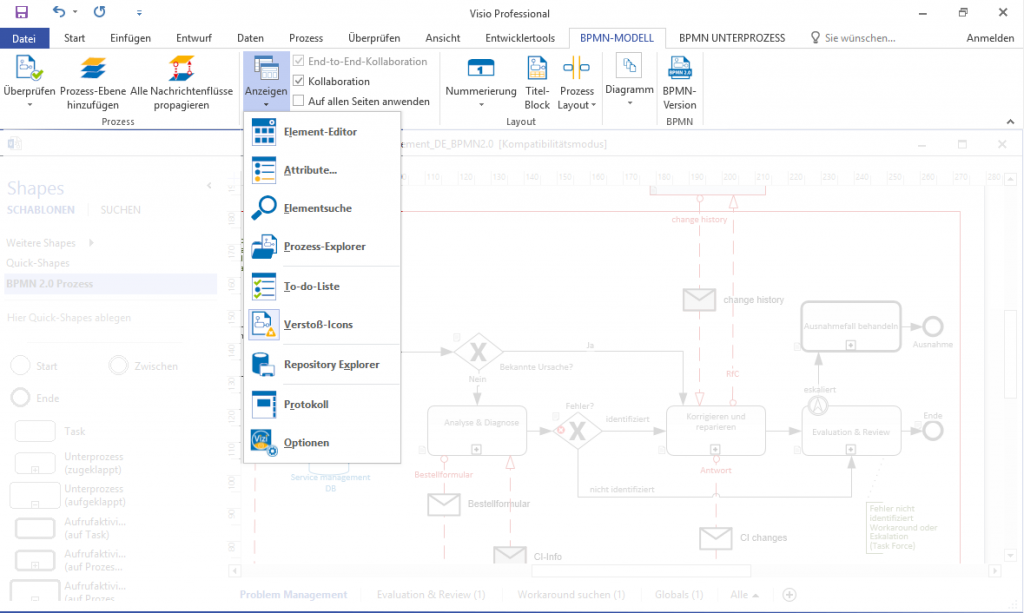 Vizi Modeler integrated in Microsoft Office Visio - Vizi BPM | BPM ...